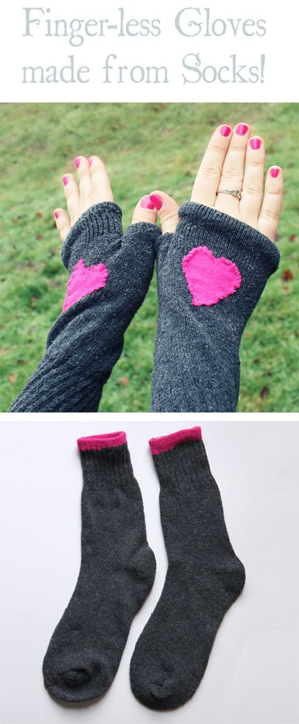 Finger-less Gloves made from Socks #glovesmadefromsocks