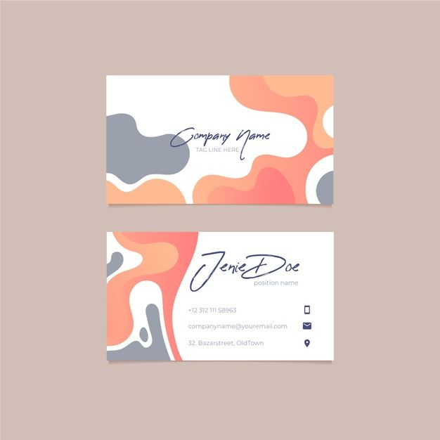 Download Abstract Business Card Template With Pastel Colored Stains For Free In 2020 Graphic Design Business Card Graphic Design Cards Business Card Graphic