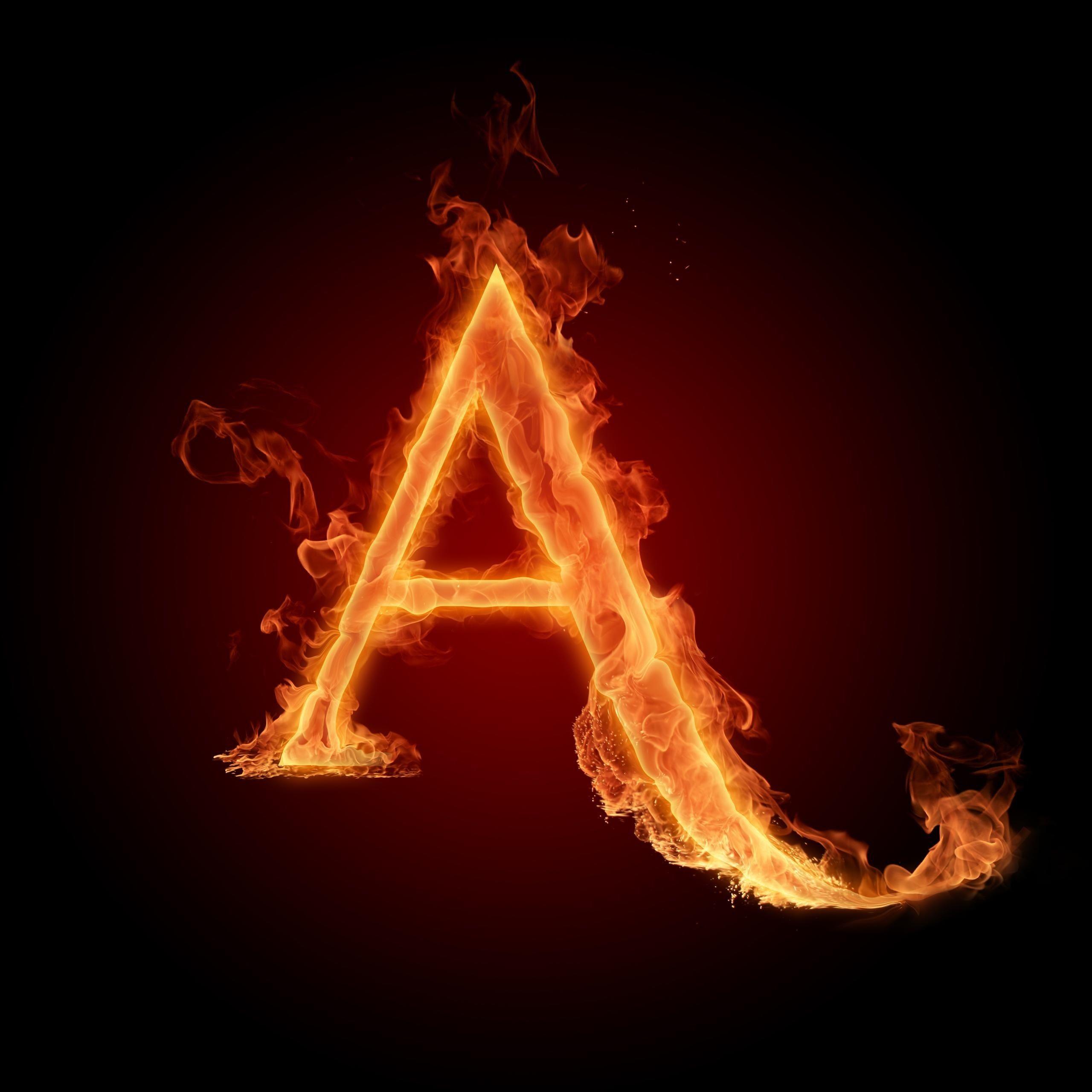 B Letter In Fire A in fire | Alphabet o...