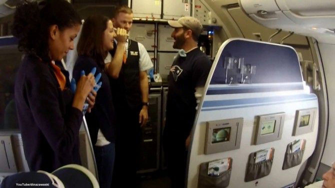 A couple turned a JetBlue flight into a wedding for the ages when they exchanged 'vows' in a makeshift ceremony while flying high.