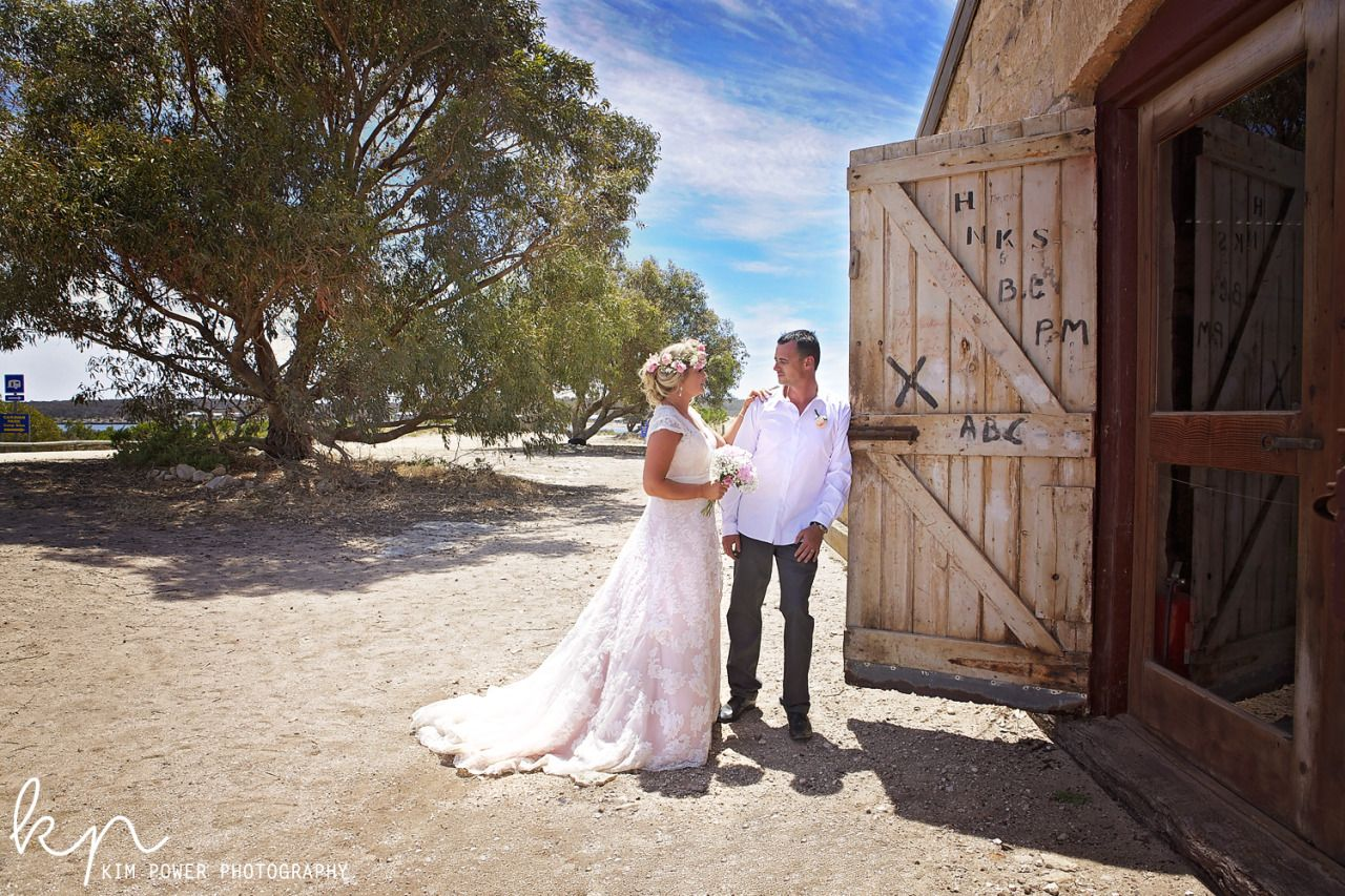 Wedding + Bride + Groom + Wedding Photography + Kim Power Photography + Canon + Australian Wedding Photographer + Wedding Poses + Kiss + Love + Romance + Bridal Gown + Veil + Port Lincoln Wedding + Dutton Bay Woolshed + Dutton Bay + Flower Crown