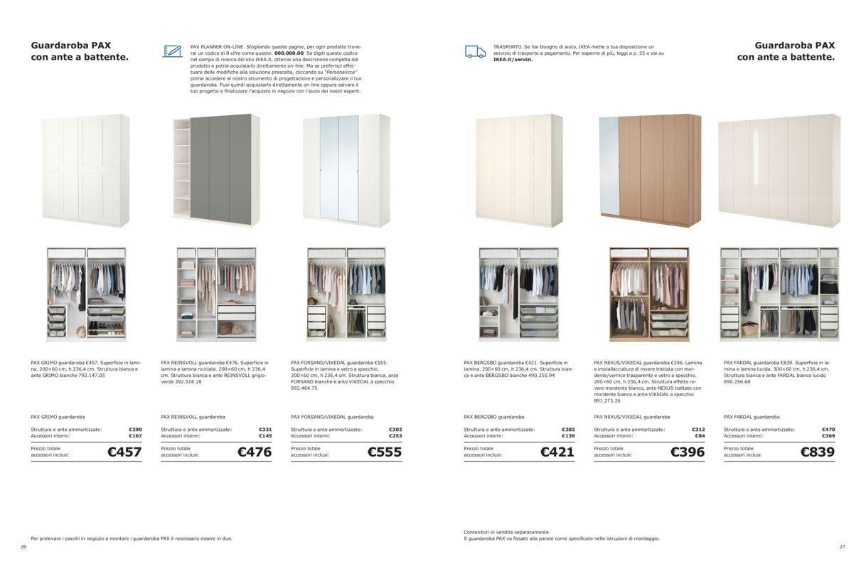 Ikea Pax Ante Scorrevoli Istruzioni Montaggio.Guardaroba Pax Con Ante Scorrevoli Brochure Guardaroba 2019