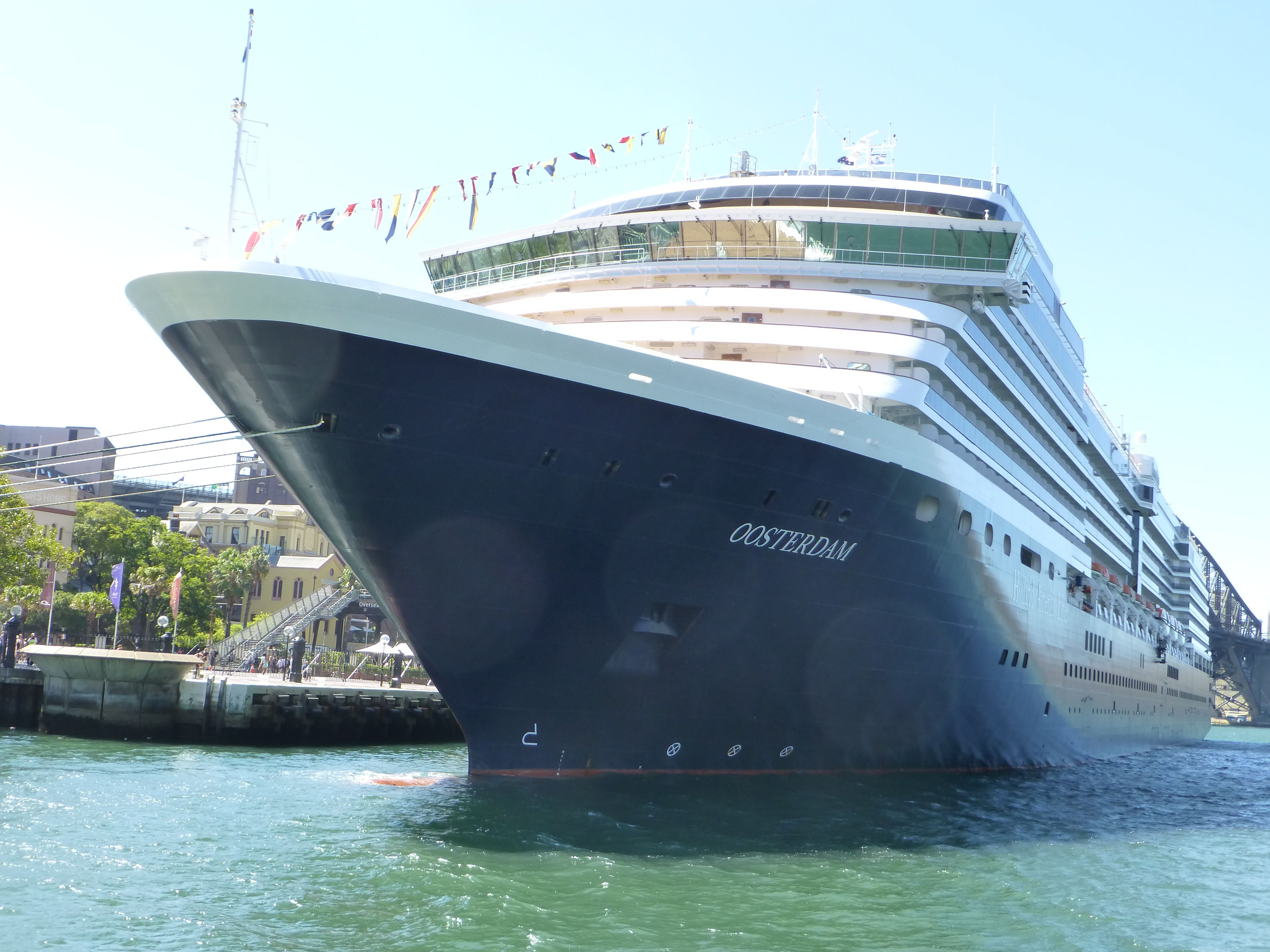 Oosterdam of Holland America Line, at Circular Quay in