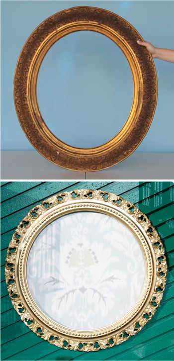 Give some love to an old frame // from DIY expert Hannah Kate Flora