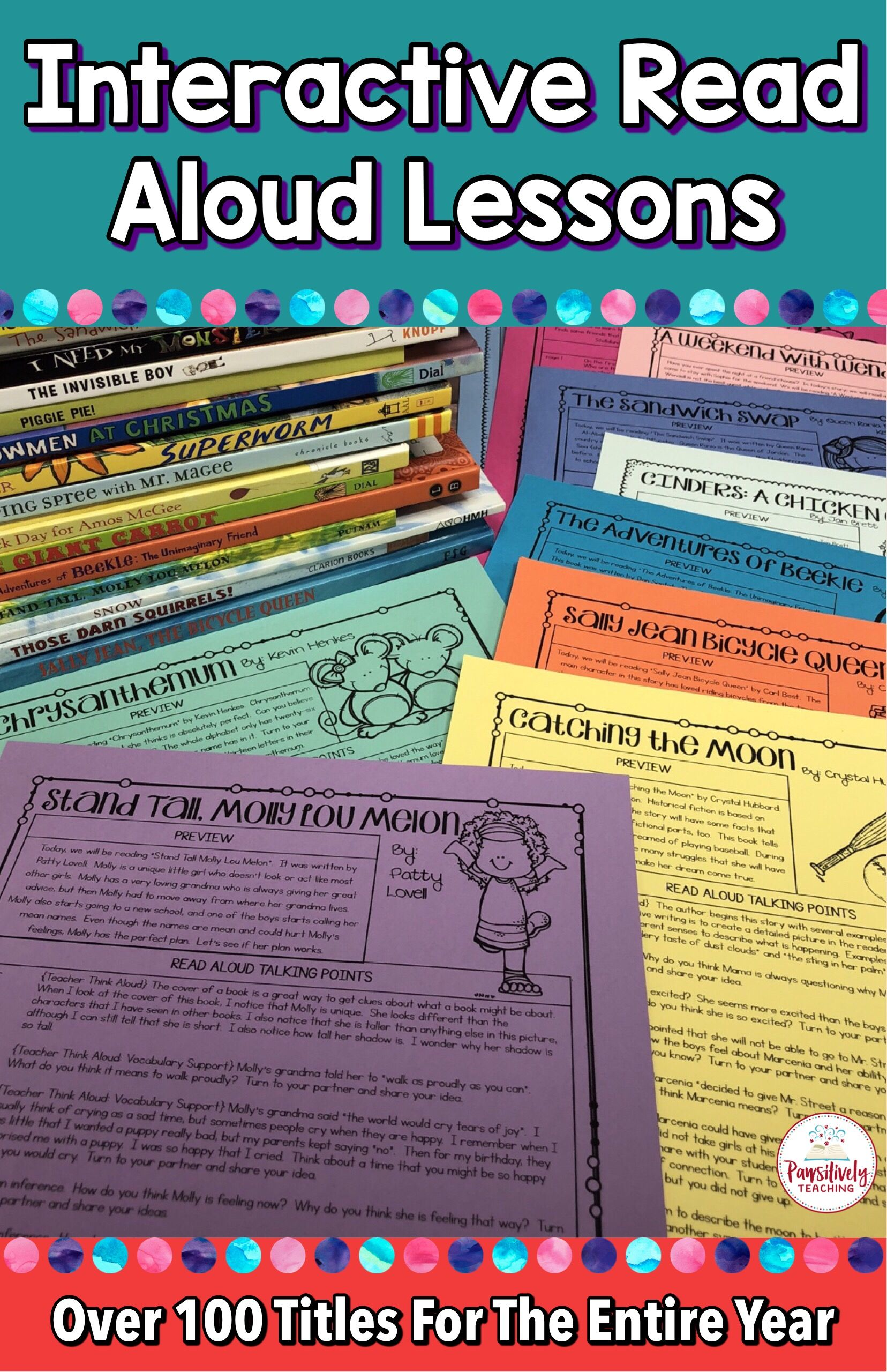 - Interactive Read Aloud Lessons For The Entire Year Bundle