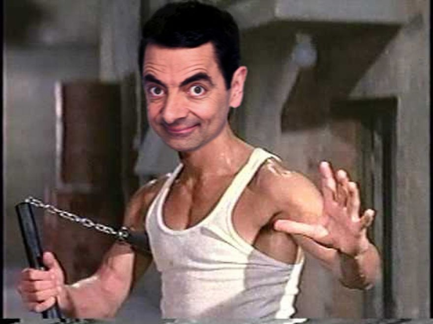 People Are Photoshopping Mr Bean Into Things And It S Absolutely Hilarious Bruce Lee Mr Bean Funny Mr Bean