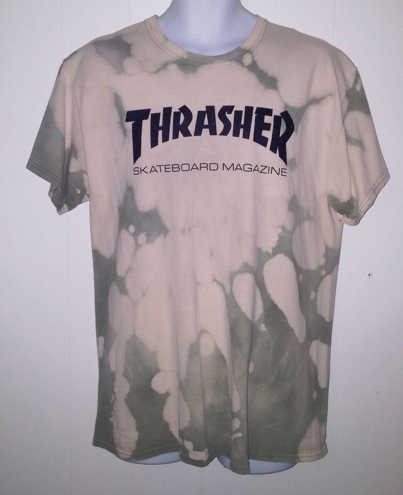 1c7963114eaa Thrasher Skateboard Magazine Tie Dyed T-Shirt Size Adult Large  ShortSleeve