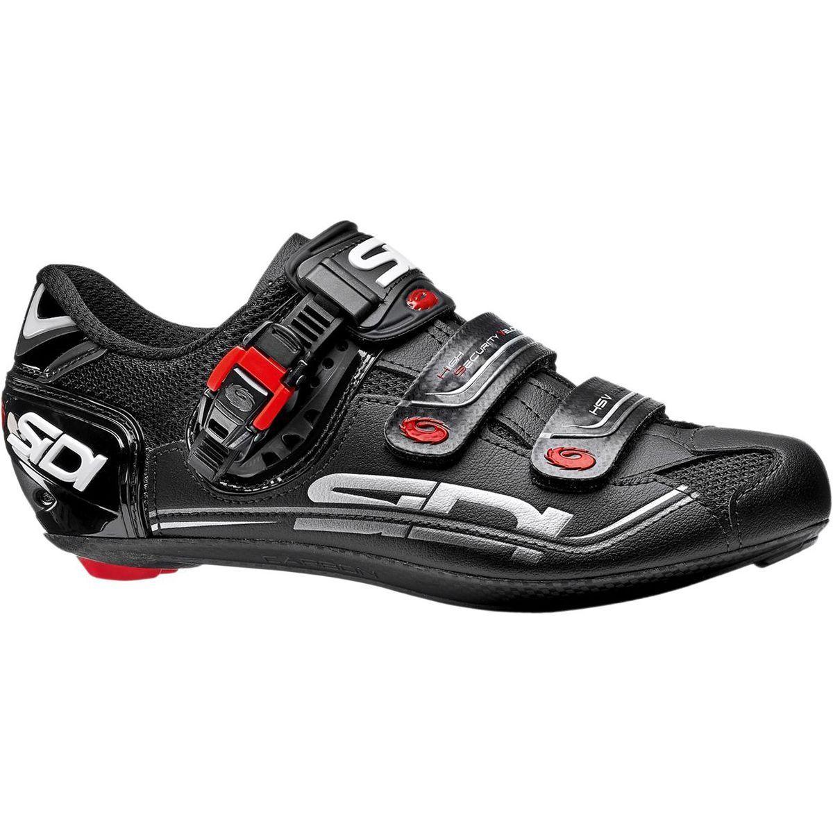 Sidi Genius 7 Carbon Mega Shoe Black 40 0 Wide Road Cycling