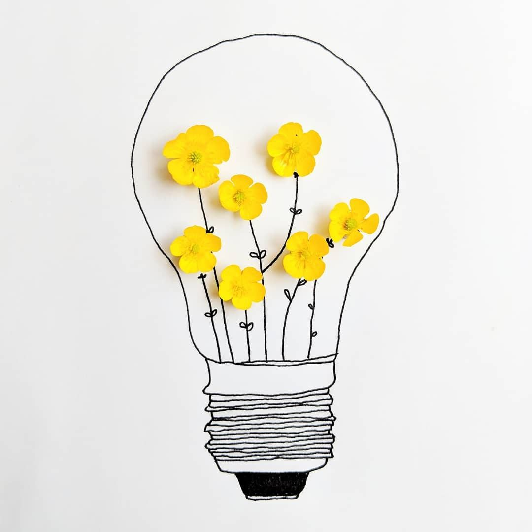 Art Aesthetic Draw Wallpaper Cute Inspiration Yellow Floral Flowers Lamp Cute Flower Drawing Flower Drawing Design Realistic Flower Drawing