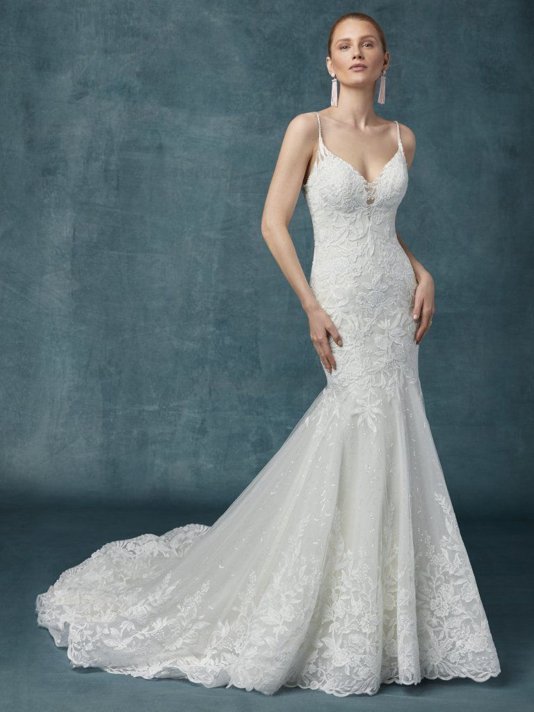 a3ebe47f938  Maggie Sottero style 9MN126 Sapphire. Sample is antique ivory