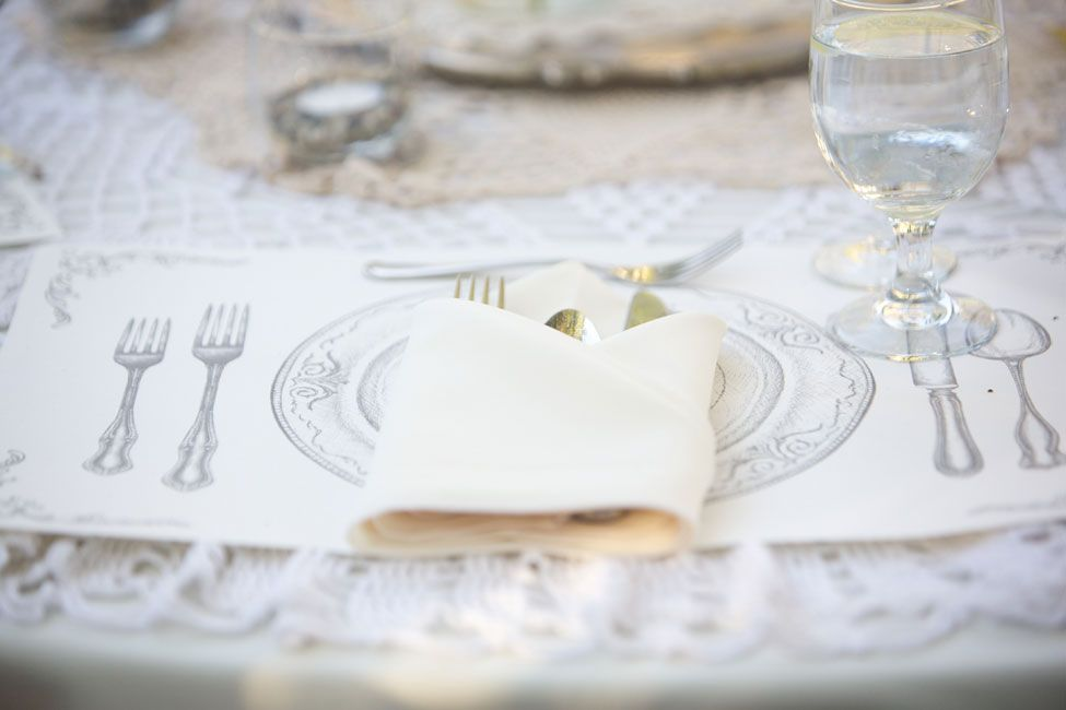 Vintage Printed Paper Place mats | Intimate Boho Chic Babcock Estate Wedding With An Eclectic Rustic Feel | Photograph by Barbara Alessandra Photography  http://www.storyboardwedding.com/intimate-boho-chic-babcock-estate-wedding/