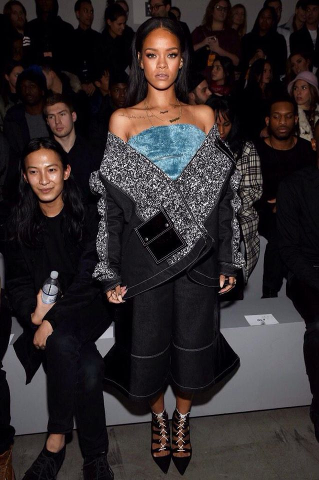 ba1b7df1a946 Rihanna attends Kanye West x Adidas Originals Fashion Show   Rihanna ...