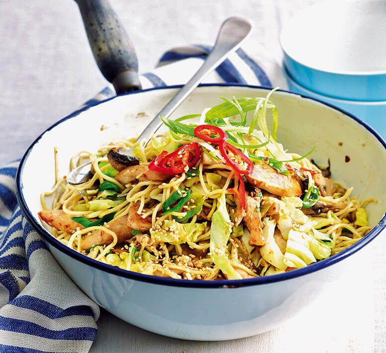 Healthy Sesame Chicken Noodles Recipe Healthy Recipes Sesame Chicken Healthy Chinese Recipes
