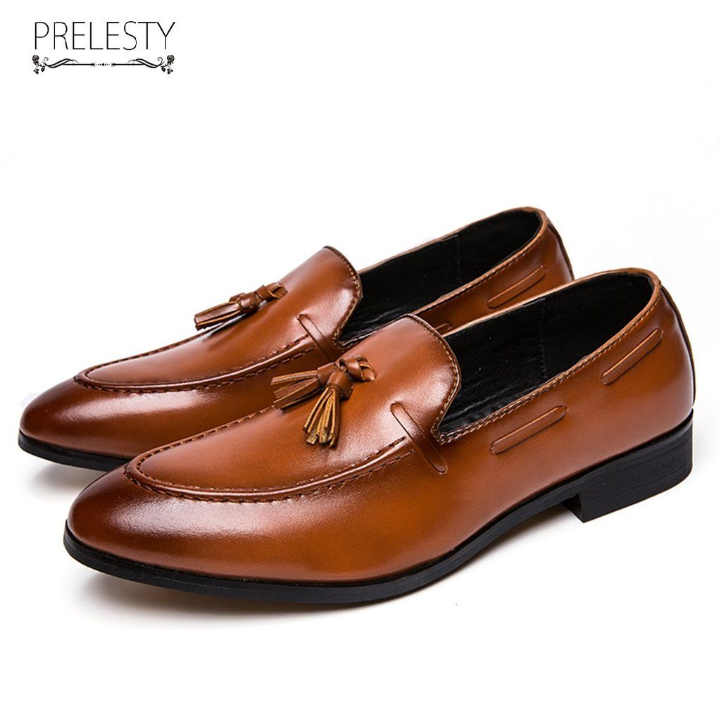 New Classic Elegant Italian Men Penny Loafer Formal Dress