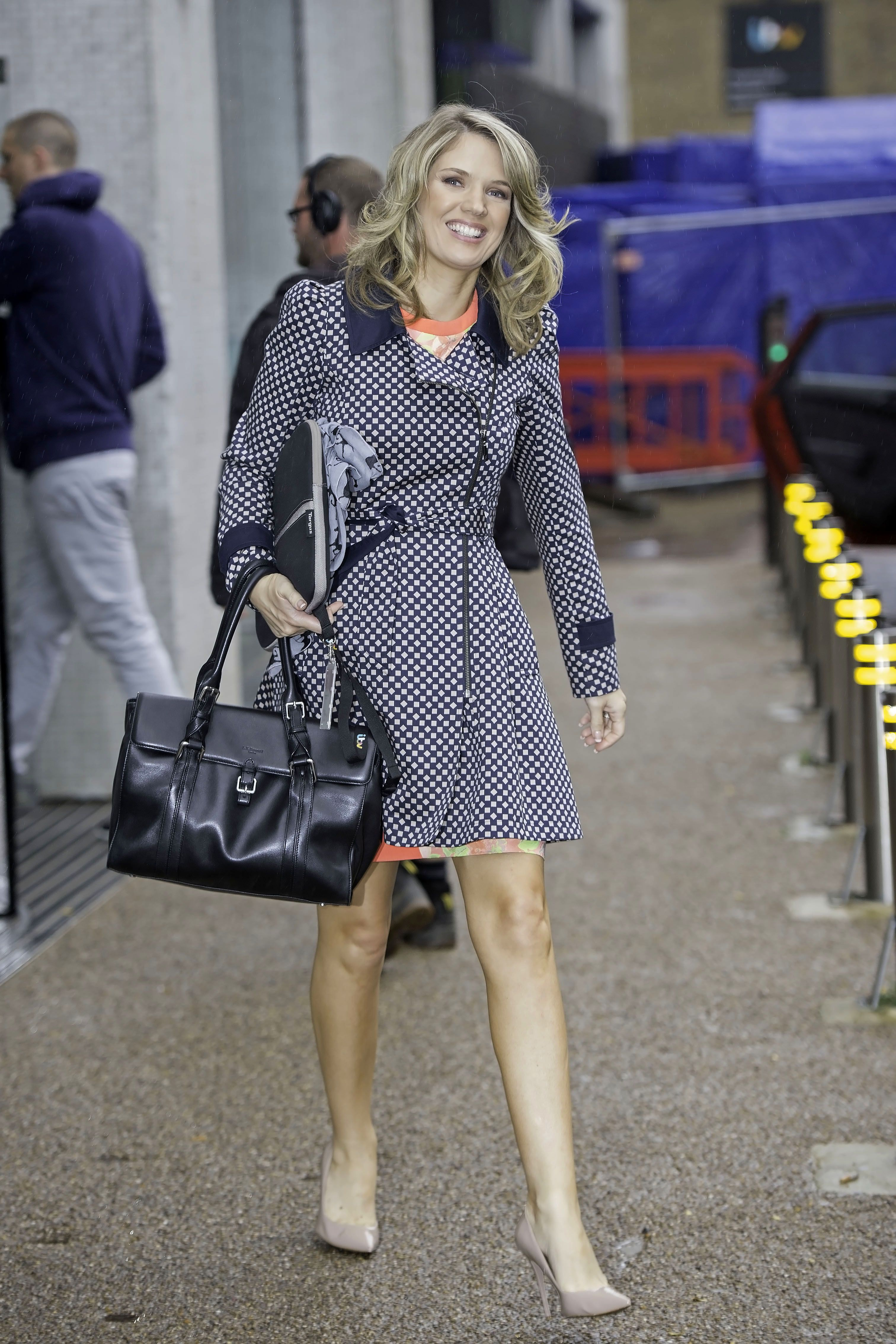 Charlotte Hawkins – leaving the London studios 26.08.14