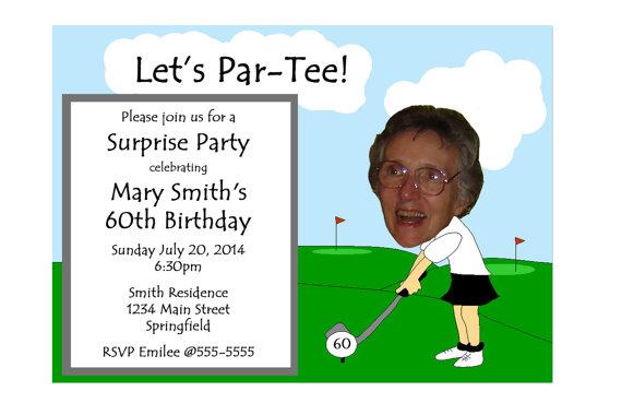 golf themed funny unique retirement invitation or 30th 40th 50th