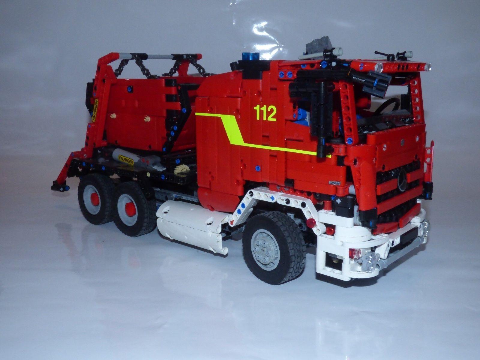 Bauanleitung Instruction 42024 Feuerwehr Umbau Eigenbau Unikat Moc