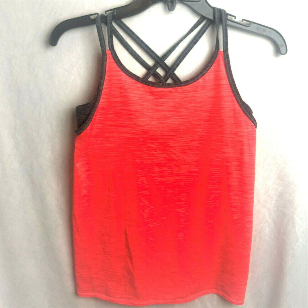 Athleta girl tank top xl built in bra athletic workout