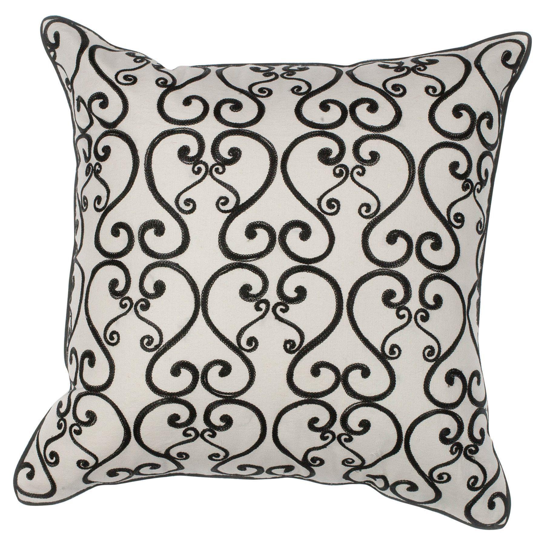 Kas Rugs Luminous Decorative Pillow Pill12018sq Blue Pillows Decorative Black Decorative Pillows Decorative Pillows