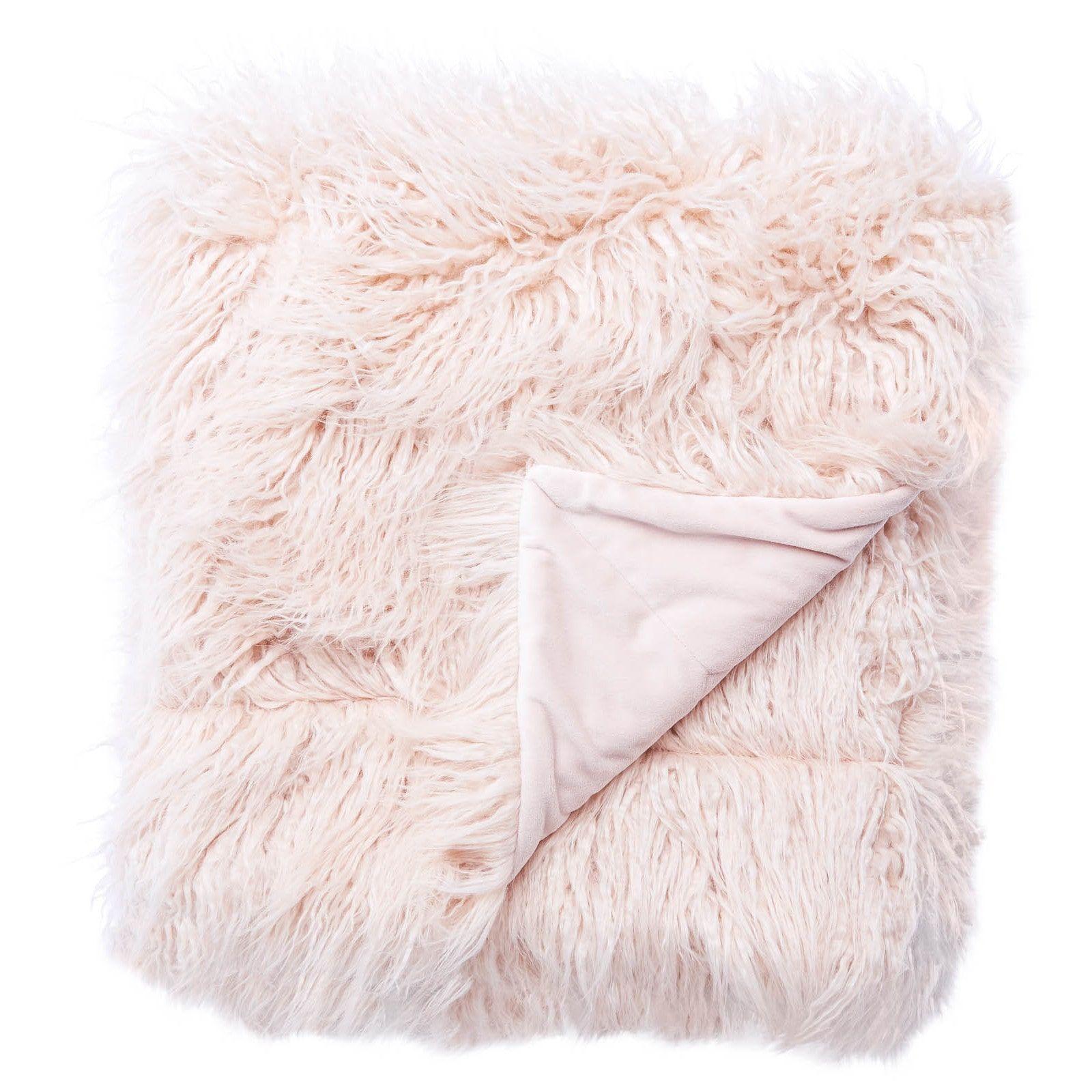 Blush Pink Throw Blanket Jaipur Allura Faux Fur Throw  Products  Pinterest  Pink Throws
