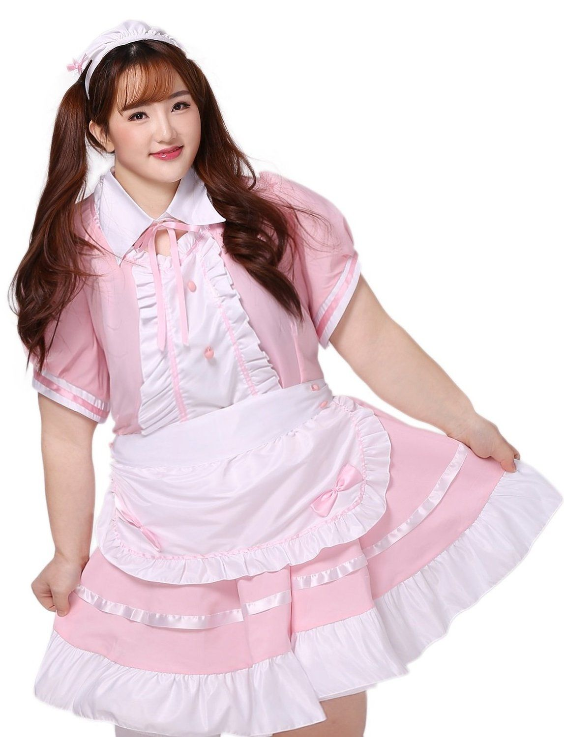 Amazon Com Bs Japan Anime Uniforms Plus Size French Maid Pink