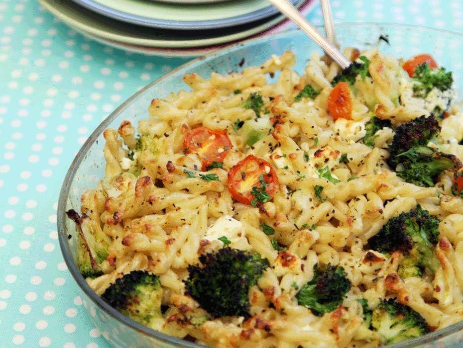 Pastagratang Med Broccoli Och Fetaost Recept Tasteline Com Recept Fetaost Recept Recept Broccoli