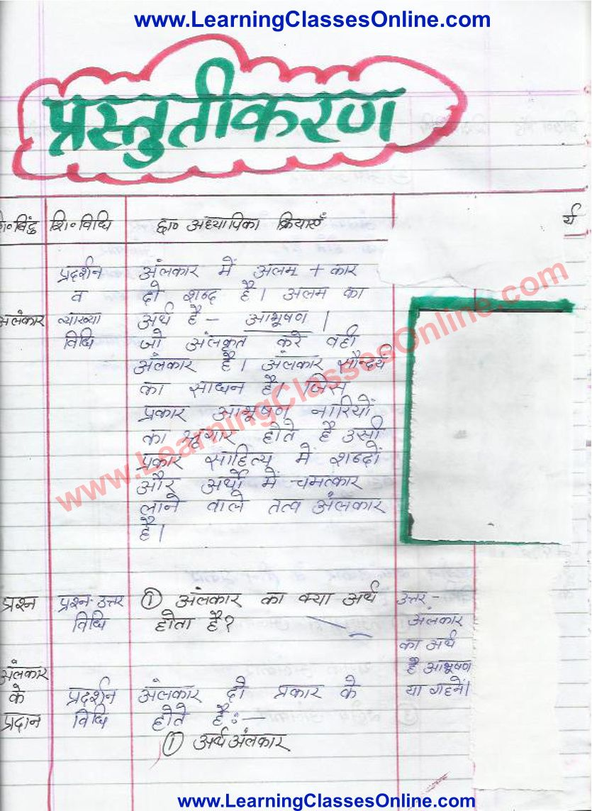 Lesson Plan Of Hindi Grammar On Alankar Aur Uske Bhed For Class 10th Grammar Lesson Plans How To Plan Lesson [ 1143 x 835 Pixel ]