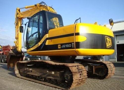 jcb js130 js160 tracked excavator service repair workshop manual rh pinterest co uk JCB JS130 JS 130 Excavator
