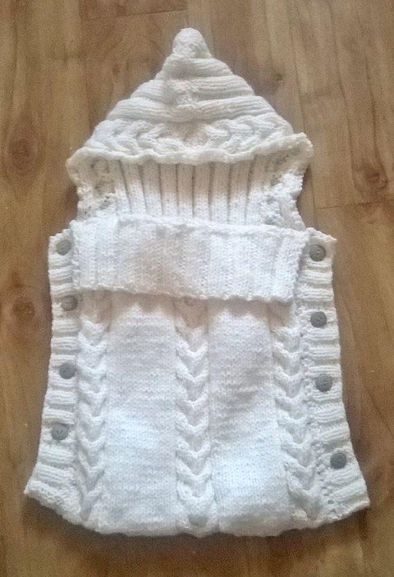 Made To Order Hand Knitted Newborn Baby Sleep Sack