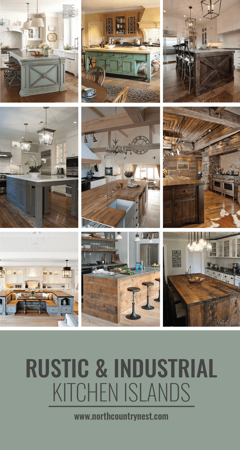 11 Kitchen Islands That Steal The Show Rustic Industrial