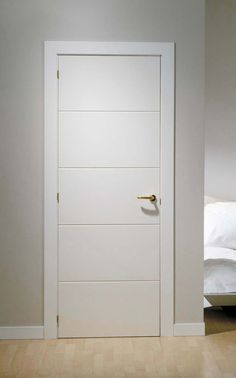 Puertas de interior lacadas blancas ranuradas ana - Puertas lacadas blancas ...
