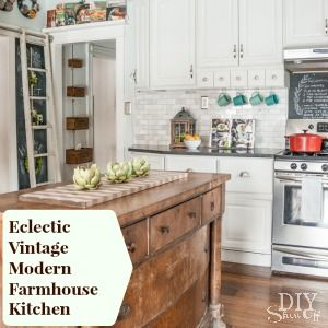 Modern Farmhouse Kitchen Decorating diy show off | modern farmhouse kitchens, farmhouse kitchens and