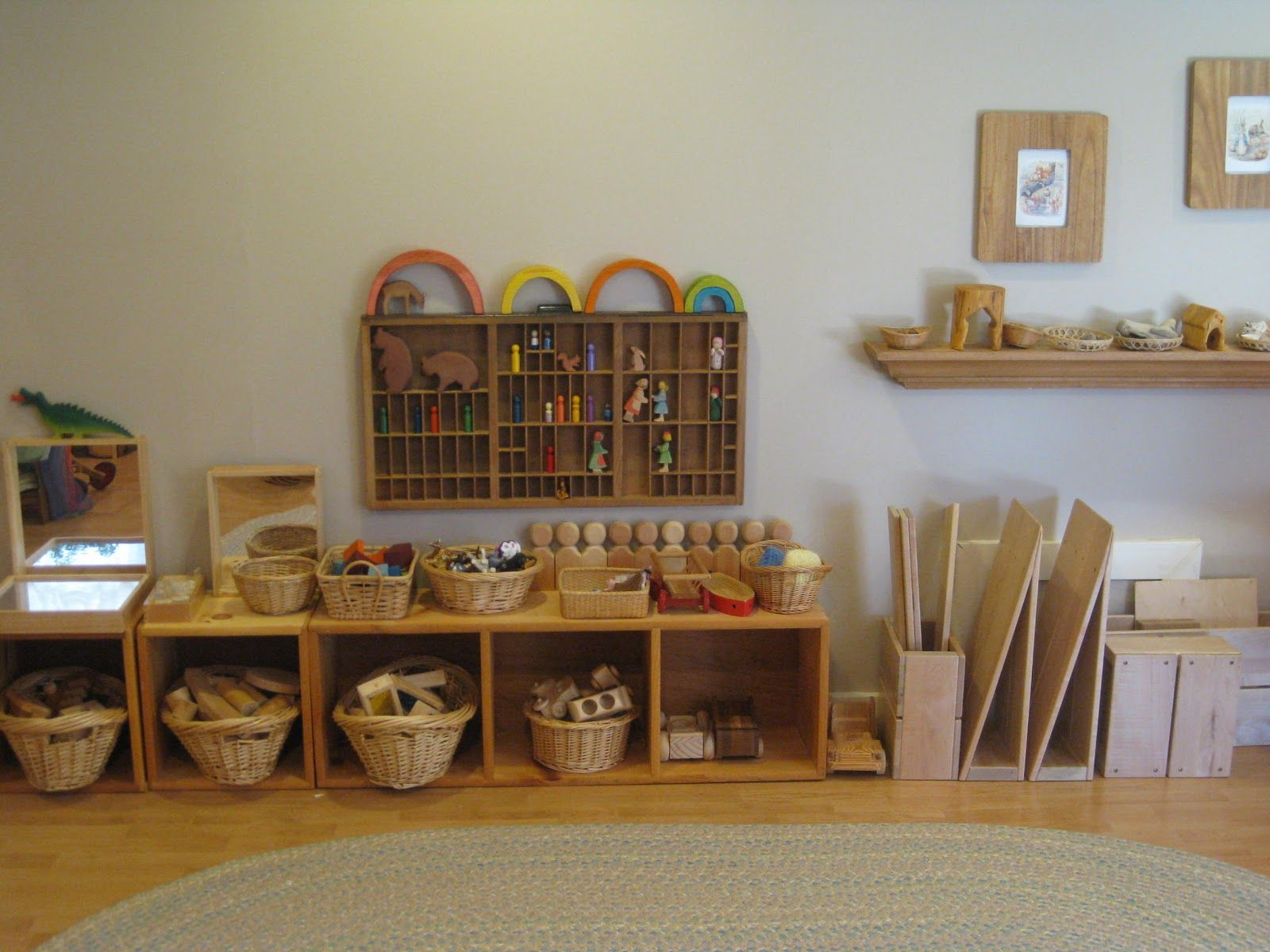 collection and construction... Beautifully displayed and much easier to clean up when in a basket.