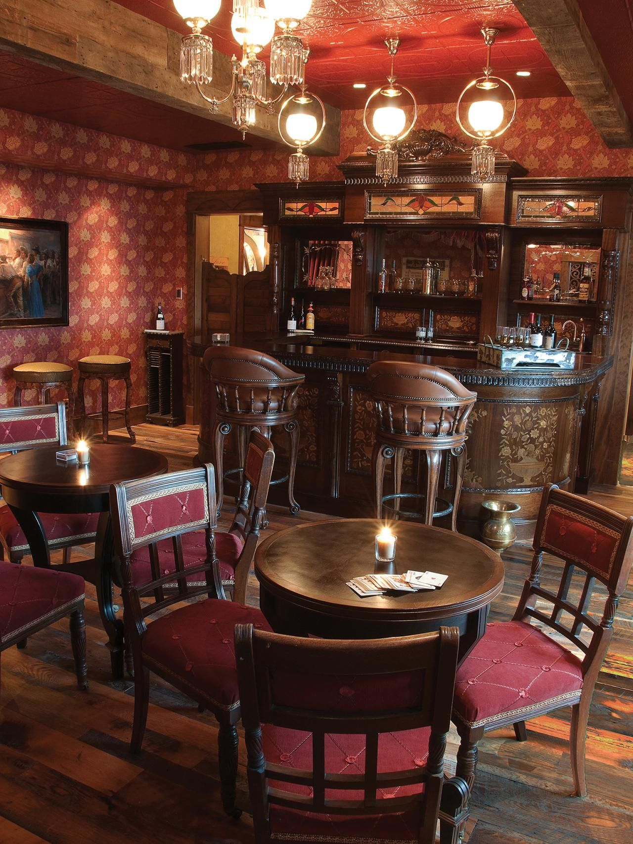 The D And D Saloon Boasts A Vintage Bar. Burnt Red Keeps With The Old · Double  D RanchMancave ...