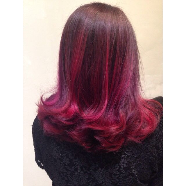 47d5417b546a Vibrant and colorful color melted ombré with burgundy
