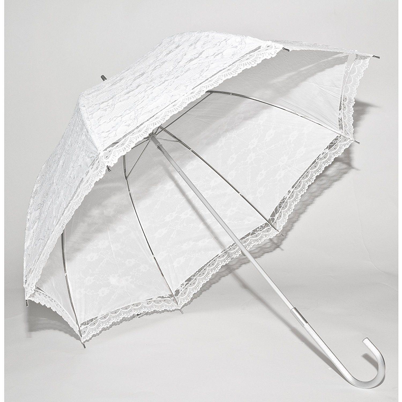 Elite Rain Wedding Umbrella Ivory Lace Canopy Umbrella