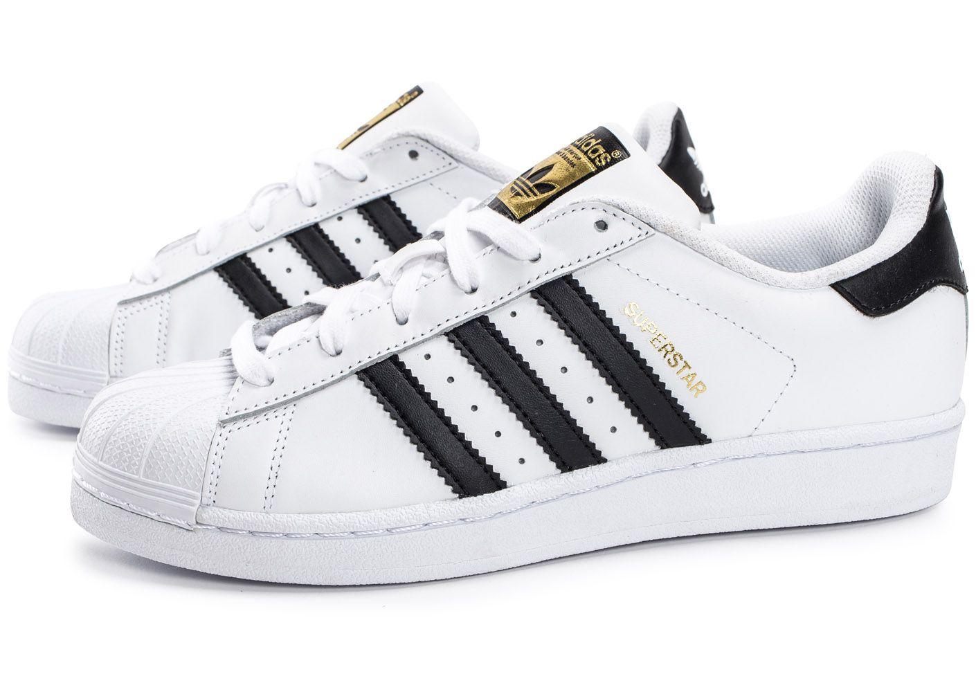 adidas originals superstar foundation blanc / noir