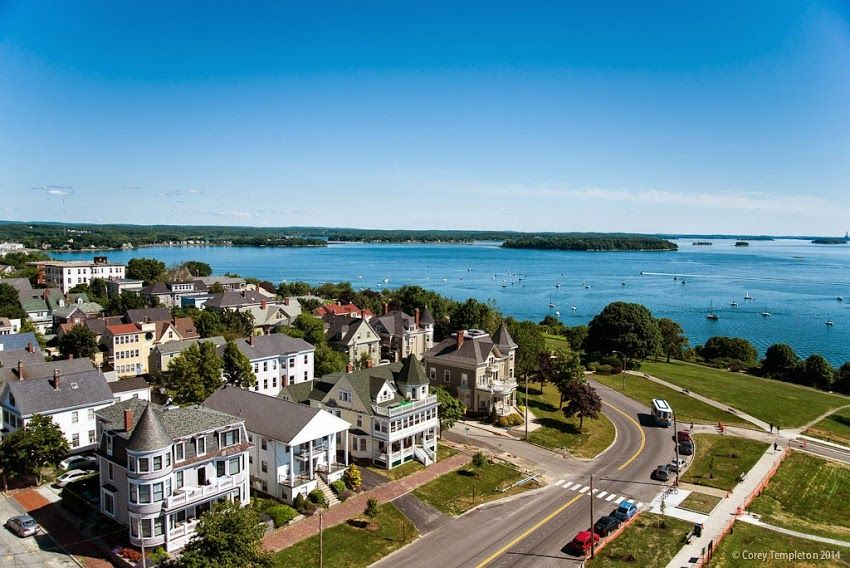 portland maine eastern promenade aerial photo from portland house rh pinterest com
