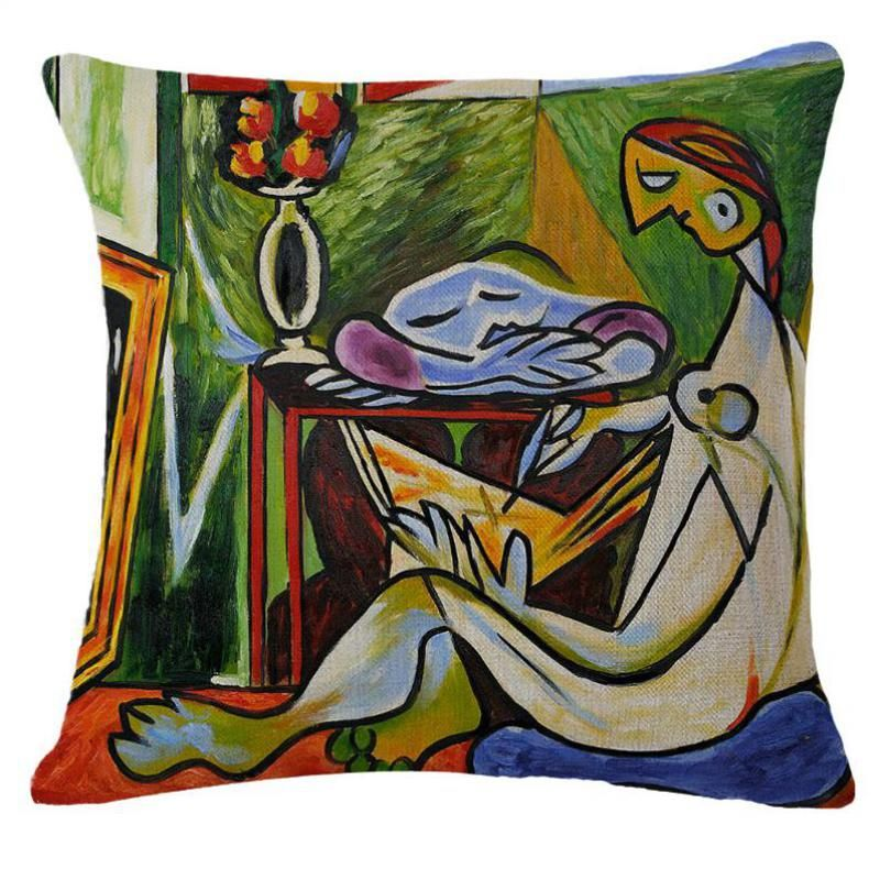 New Arrival European Style Magic Figure Picasso Pillow Cover Home Decor Sofa Chair Classical Picasso Cushion Cover