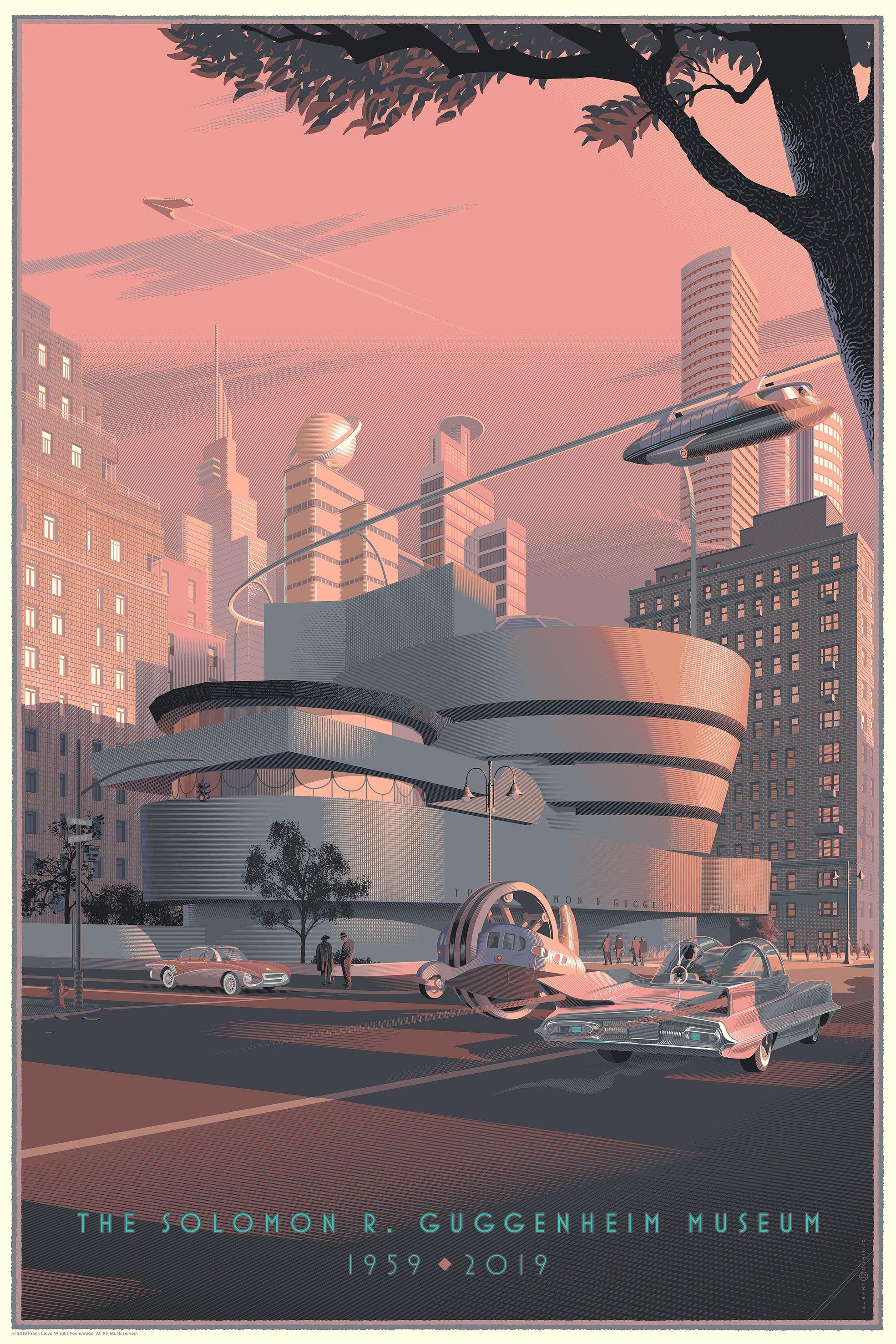 Laurent Durieux Spoke Art Limited Edition Screen Prints Guggenheim