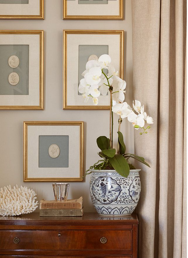 Good White Orch. Traditional Interiors With White Orchid. #WhiteOrchid #Orchid #