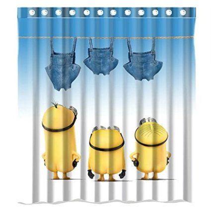 Jozabe Custom Mischievous Minions Series Shower Curtains