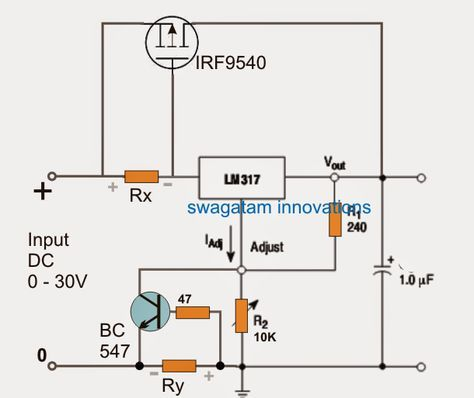 The popular LM317 voltage regulator IC is designed to