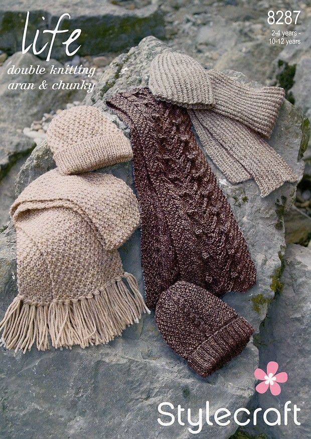 Scarves and Hats in Stylecraft Life DK, Aran and Chunky (8287) | Deramores