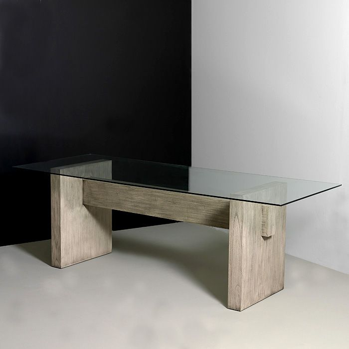 Mesa comedor cristal madera Ambiente hogar Pinterest Mesa