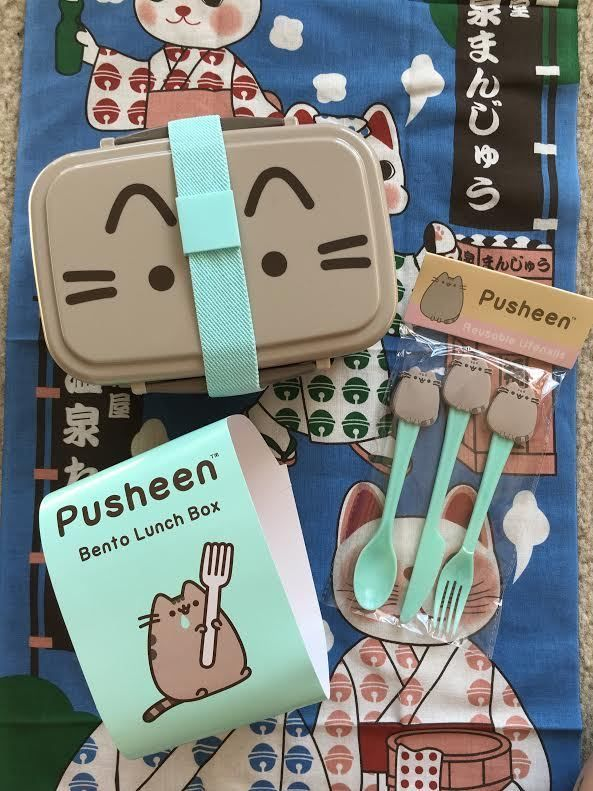Lunch Containers 101428: Pusheen Box Spring 2017 Bento Lunch Box And Utensils -> BUY IT NOW ONLY: $40 on eBay!