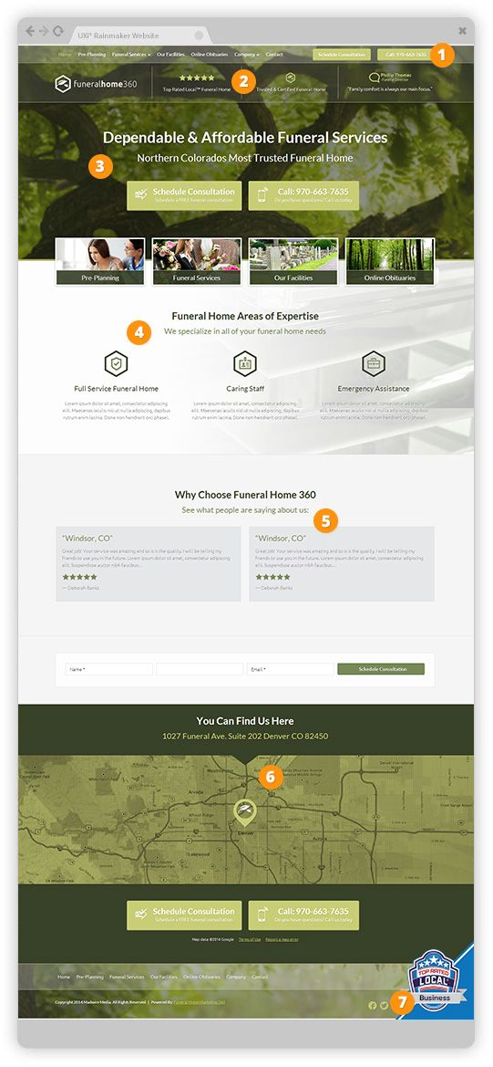 Funeral Home Website Template Designs   Funeral Home Marketing 360®