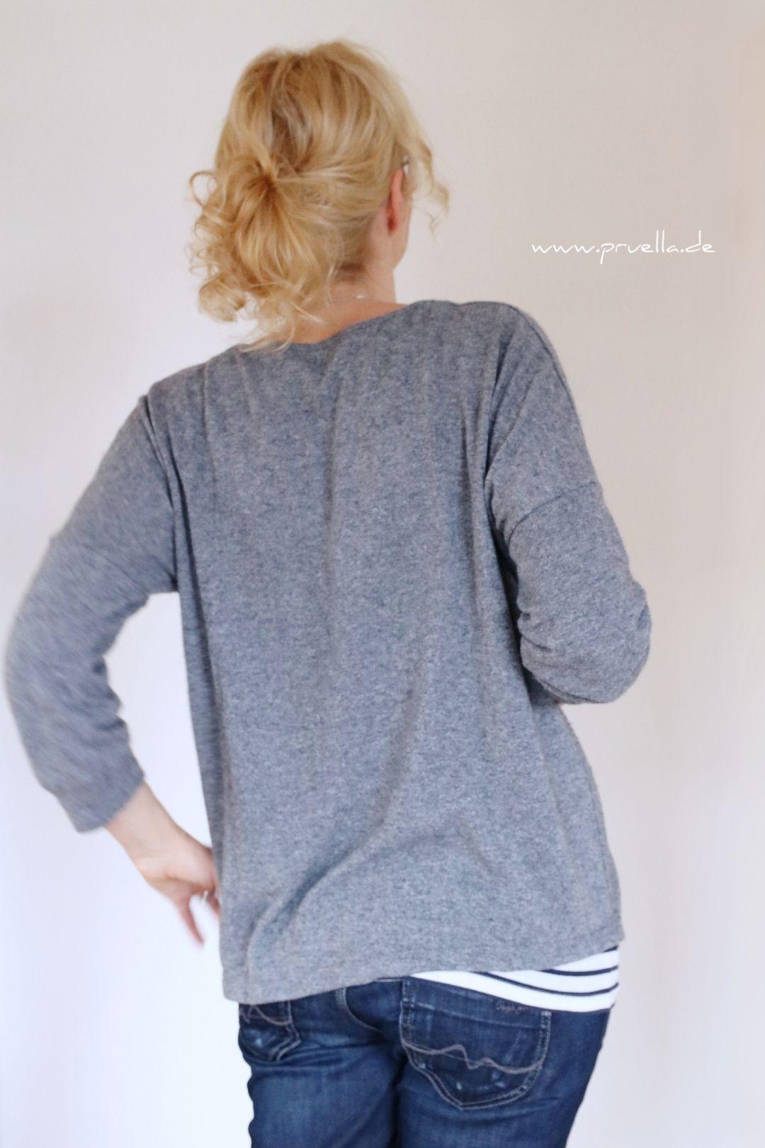Dauerbrenner FrauAiko in grauem Wollstrick   Pullover ...
