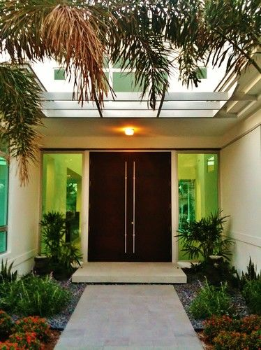 Who Makes The Door Handle Houzz Contemporary Front Doors Front Door Design Modern Front Door
