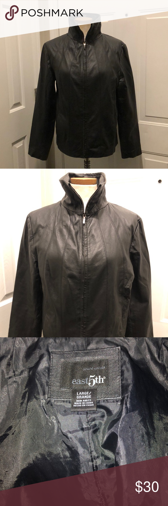 East 5th Leather Jacket Excellent Condition L